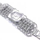 Textured Stainless Steel Chain Link Fashion Watch WW103