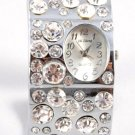 Iced Out Crystal Chunky Cuff Watch WW123