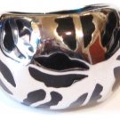Black Abstract Chunky Stainless Steel Ring SSR1411