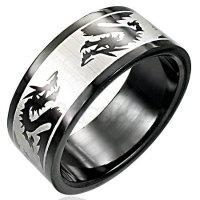 Black Stainless Steel Dragon Ring SSR605 Sz 10.5