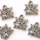 5 New York Big Apple Pewter Charms Wholesale Lot
