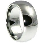 8mm Unisex High Polish Stainless Steel Dome Ring SSR31