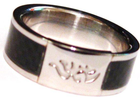 Carbon Fiber Tribal Stainless Steel Ring SSR2589