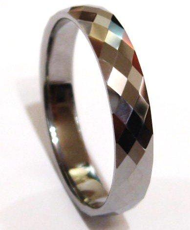 Multi Faceted Tungsten Carbide Ring TU3021 Sz 9
