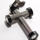 "2 Tone High Polish Stainless Steel Tube Cross with FREE 20"" SS Ball Chain SSP6831"