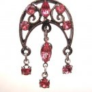 Vintage PINK Crystal Chandelier Reverse Belly Navel Ring BJ01