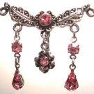 Vintage PINK Crystal Chandelier Reverse Belly Navel Ring BJ02