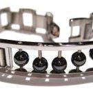 Hematite Balls Stainless Steel Bracelet SSB5732