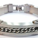 Black Carbon Fiber Chain Stainless Steel Bracelet SSB7839