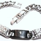 Hammered Stainless Steel Bracelet SSB5942