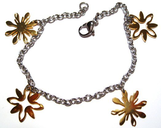 Flower Stainless Steel Chain Bracelet SSB8622