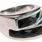Black Onyx Chunky Stainless Steel Statement Ring SSR4950