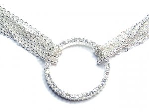 Multichain Crystal Circle of Life Choker Necklace NP30
