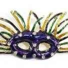 "2.7"" Colorful Party Mask Masquerade Crystal Brooch Pin Broach BP78"