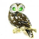 "1.5"" Adorable Crystal Owl Enamel Brooch Pin Broach BP80"