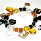 Adorable Halloween Charms and Beads Stretch Bracelet BR42