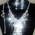 Crystal Cascade Necklace Set NP07 103