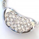 Crystal Pod Rhodium Finish Slider Necklace NP84