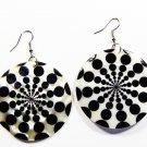"""2"""" Unique Pattern Genuine Shell Dangle Earrings EA125"""