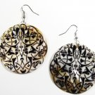 "2"" Unique Pattern Genuine Shell Dangle Earrings EA128"