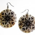 "2"" Unique Pattern Genuine Shell Dangle Earrings EA130"