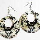 """2"""" Unique Pattern Genuine Shell Dangle Earrings EA133"""