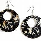 """2"""" Unique Pattern Genuine Shell Dangle Earrings EA134"""