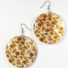 "2"" Art Deco Pattern Dangle Shell Earrings EA141"