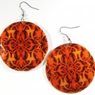 "2"" Art Deco Pattern Dangle Shell Earrings EA142"