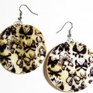 "2"" Art Deco Pattern Dangle Shell Earrings EA150"