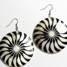 "2"" Art Deco Pattern Dangle Shell Earrings EA151"