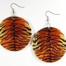 "2"" Animal Print Dangle Shell Earrings EA144"