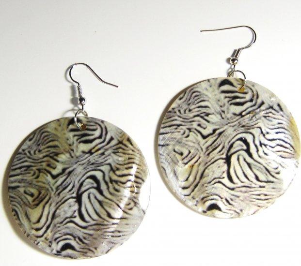 """2"""" Animal Print Dangle Shell Earrings EA148"""