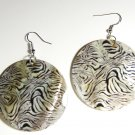 "2"" Animal Print Dangle Shell Earrings EA148"