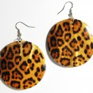 "2"" Animal Print Dangle Shell Earrings EA149"
