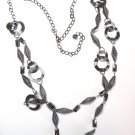 "32"" Twisted Circles and Tubes Chain Link Sweater Necklace NP939"