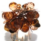 Trendy COPPER Dazzling Sequin Beads Cha Cha Ring OS39