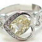 925 Sterling Silver CZ Heart Ring WR116 Sz 8