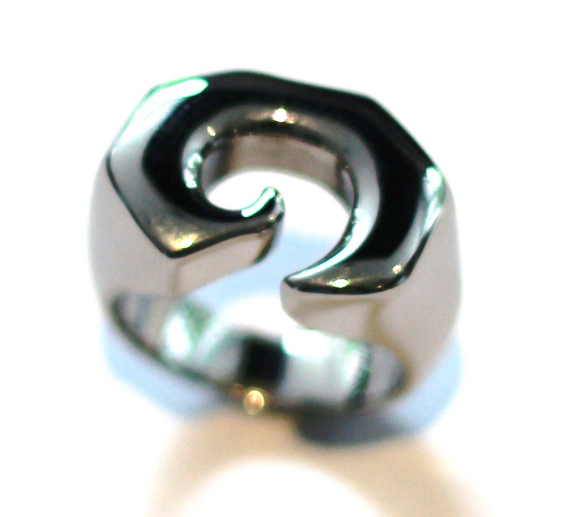 Unisex Abstract Shape Chunky Stainless Steel Statement Ring SSR2698