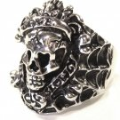 Love Kills Slowly Skull Stainless Steel Ring SSR7000
