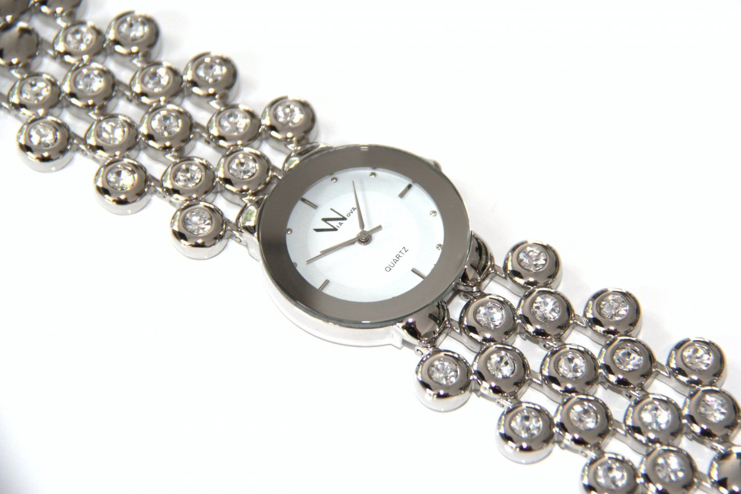 Chunky Stainless Steel CZ Bubble Fashion Watch WW107