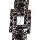 Antique Style Black CZ Toggle Fashion Watch WW115