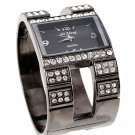 Gunmetal Crystal Chunky Fashion Watch WW126