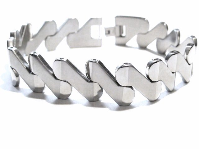 Satin Finish Shiny Stainless Steel Bracelet SSB6084