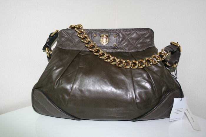 BRAND NEW Marc Jacobs Mixed Quilt Hobo in Dark Grey (most wanted color) 100% AUTHENTIC