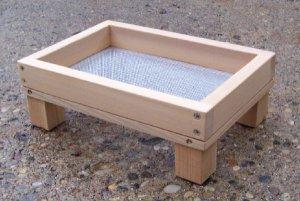 Cedar Ground Platform Bird Feeder - small