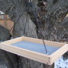 Cedar Hanging Platform Bird Feeder w-Chains - X-Large