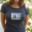 Coal colored organic scoop tee cambodia angkor wat small medium large alternative apparel
