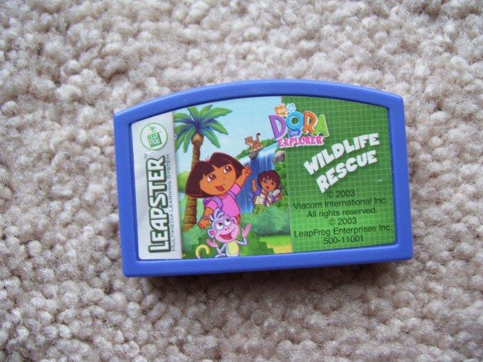 Leapster Cartridge- Dora the explorer Wildlife Rescue