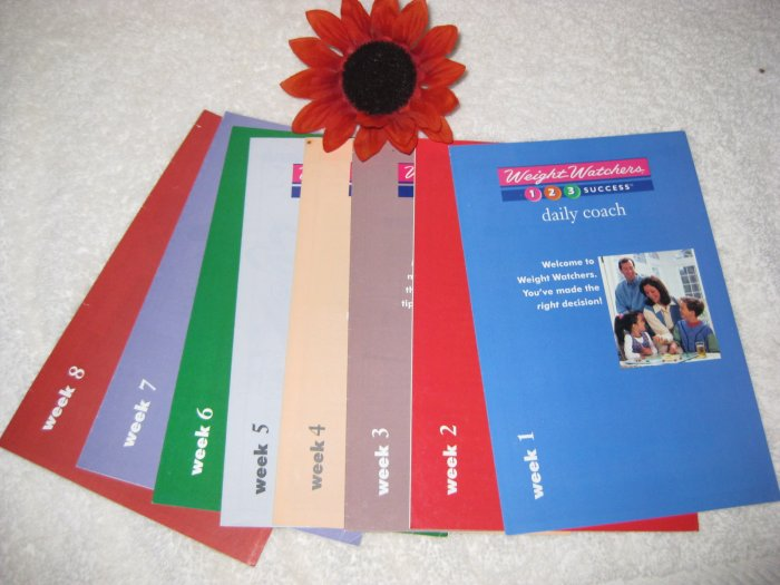 Weight Watchers 1,2,3 Success Daily Coach Booklets